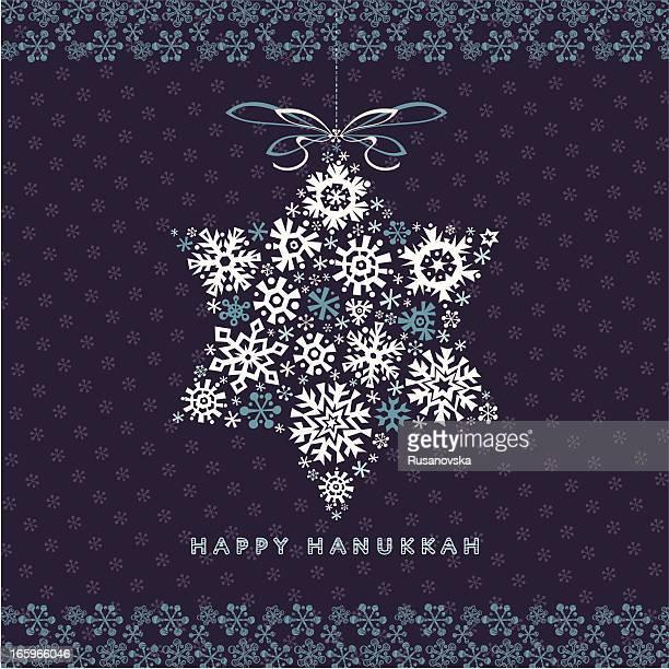 happy hanukkah greetings card - hanukkah stock illustrations, clip art, cartoons, & icons