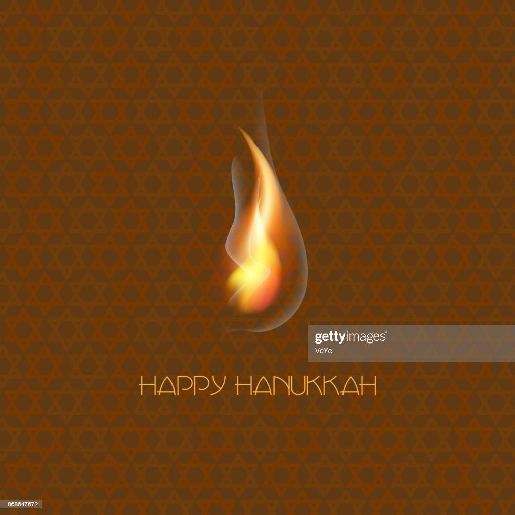 Happy Hanukkah. Jewish holiday Hanukkah greeting card.