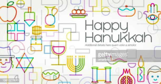 happy hanukkah - hanukkah stock illustrations, clip art, cartoons, & icons