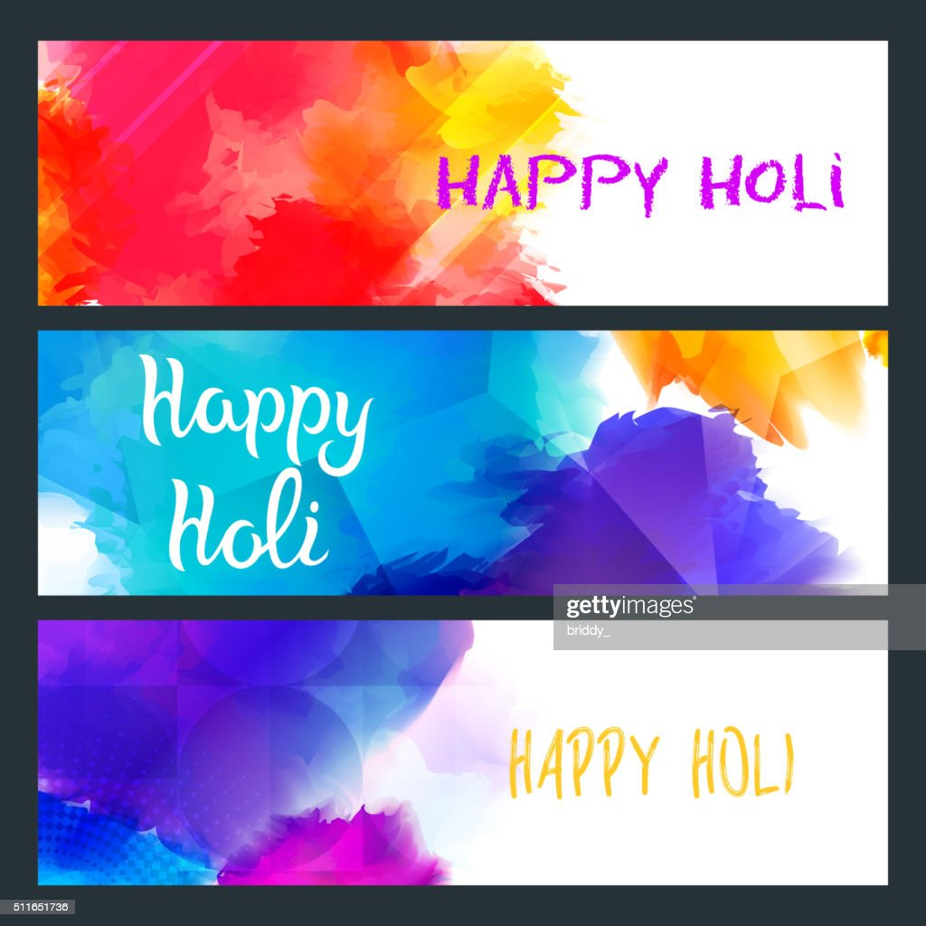 Happy Holi Bright Banners