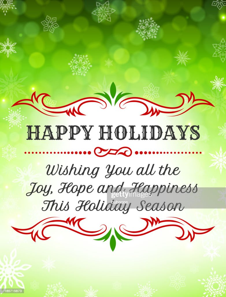Happy Holiday Greeting Card Vector Art Getty Images