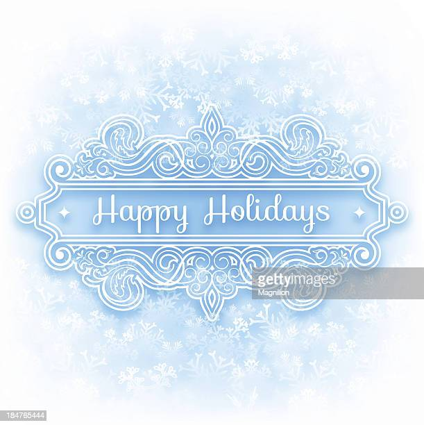 happy holidays background - happy holidays stock illustrations, clip art, cartoons, & icons