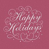 Happy Holidays calligraphy design
