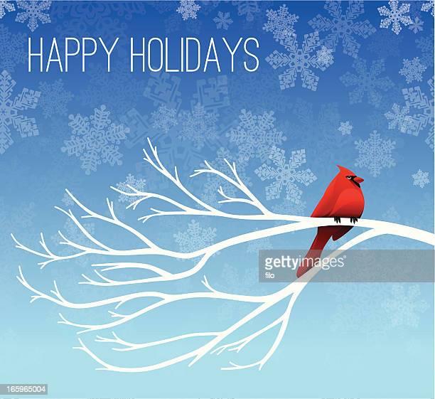 Joyeuses fêtes Cardinal arrière-plan