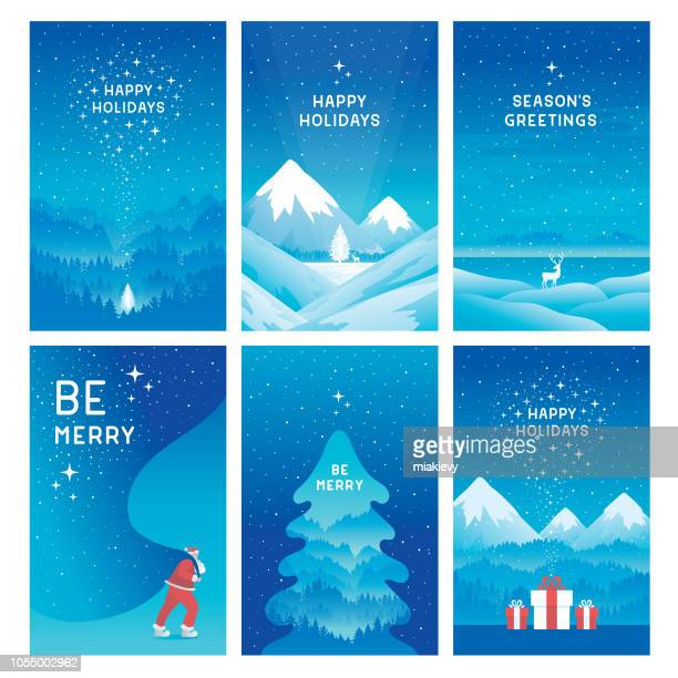 happy holidays cards - happy holidays stock illustrations, clip art, cartoons, & icons