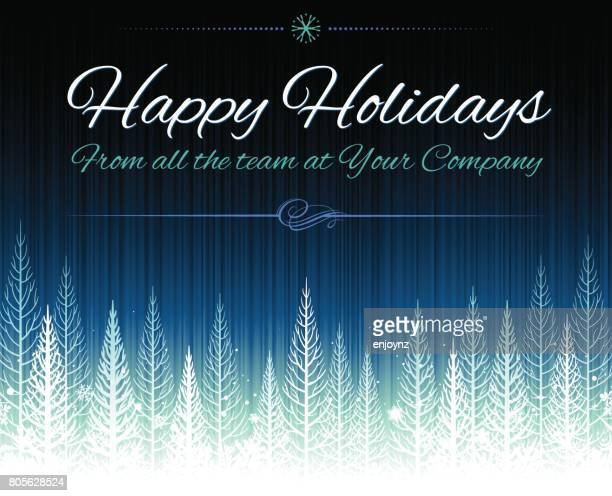 happy holidays christmas background - happy holidays stock illustrations, clip art, cartoons, & icons