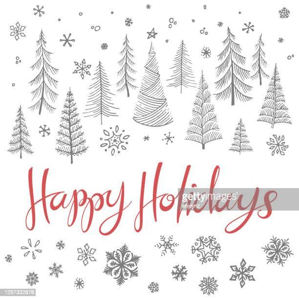 ハッピーホリデークリスマスイラスト - クリスマスマーケット点のイラスト素材/クリップアート素材/マンガ素材/アイコン素材