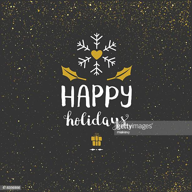 happy holidays glitter background - public celebratory event stock illustrations, clip art, cartoons, & icons