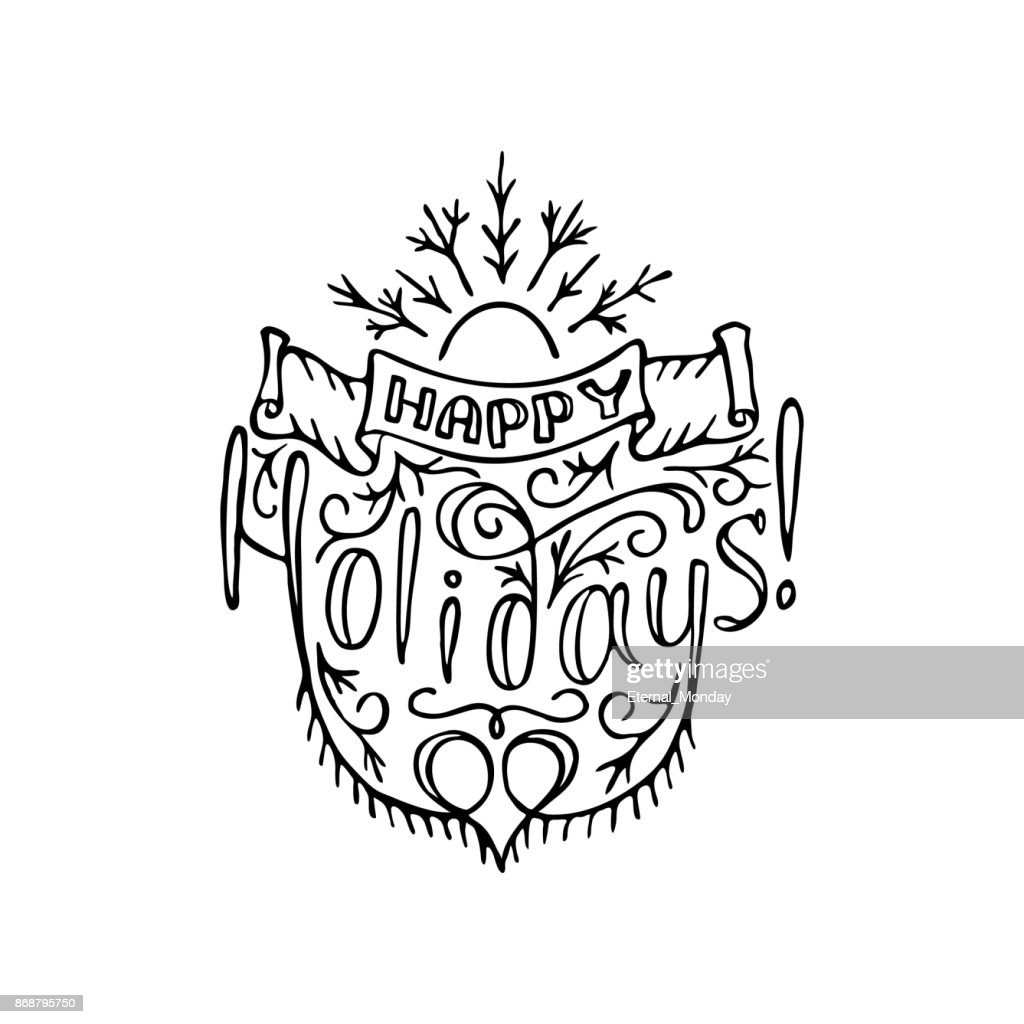 Happy holidays letterind