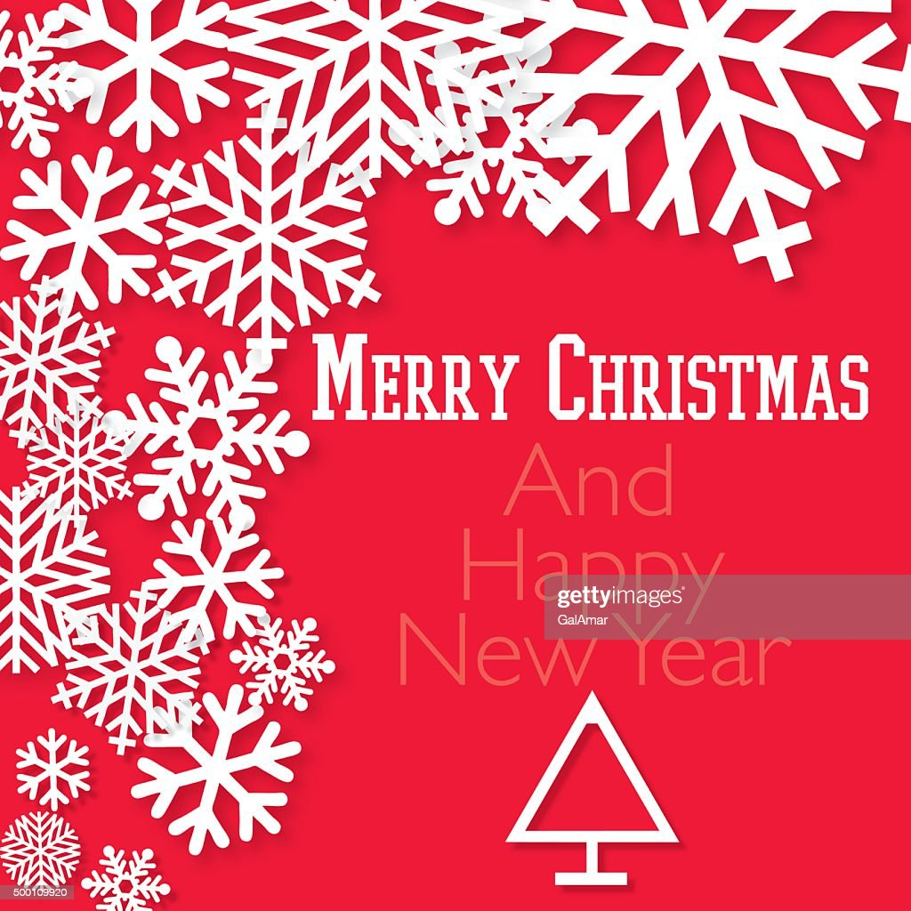 Happy Holidays Merry Christmas Happy New Year Card Vector Art ...