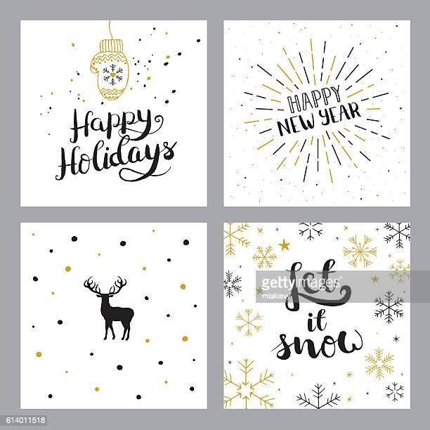 Happy holidays set