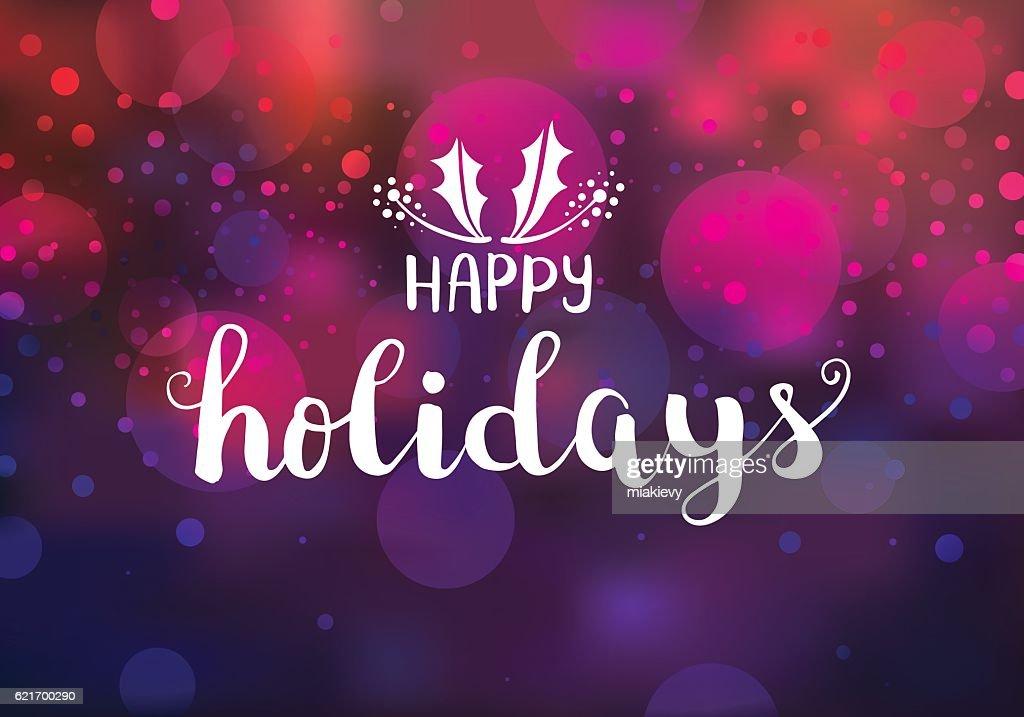 Happy holidays sparkling lights