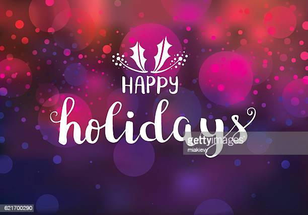 happy holidays sparkling lights - happy holidays stock illustrations, clip art, cartoons, & icons
