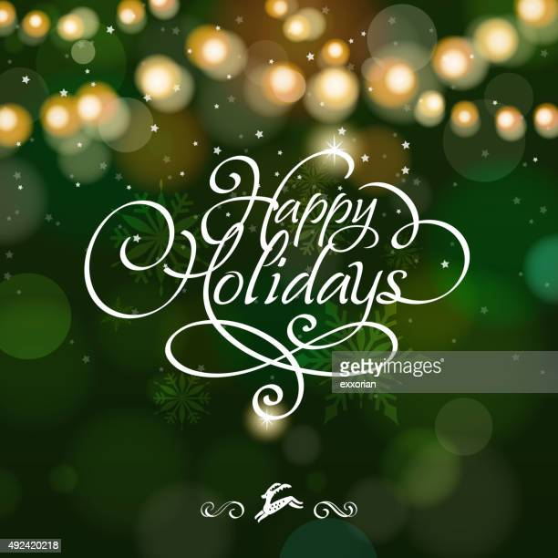 happy holidays starry background - 2015 stock illustrations