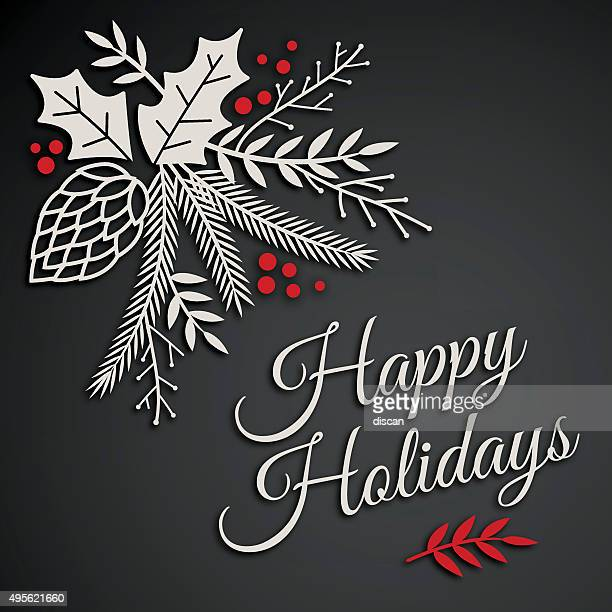 happy holidays - happy holidays stock illustrations, clip art, cartoons, & icons