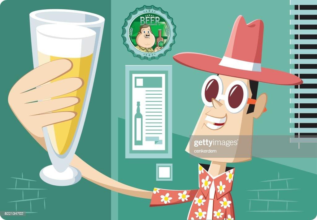 Happy hour : stock illustration