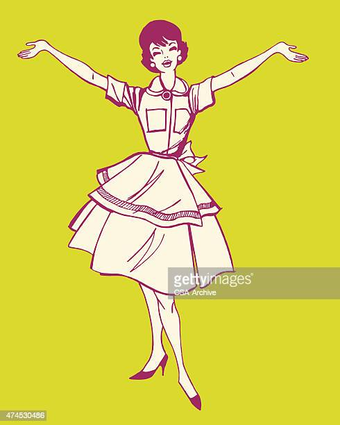 happy housewife - stay at home mother stock illustrations, clip art, cartoons, & icons