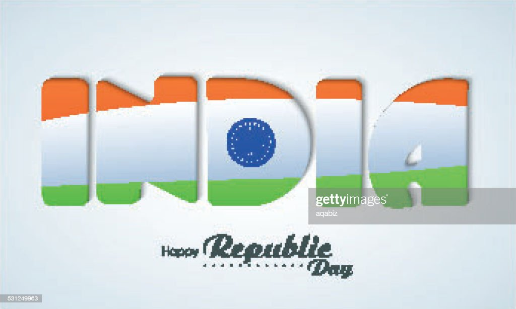 Happy Indian Republic Day celebration with stylish text.