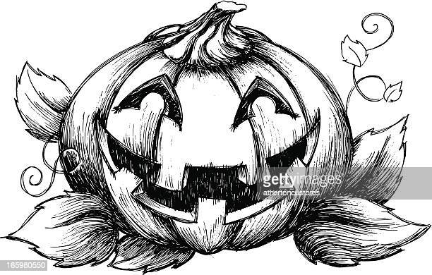 happy jack o'lantern - entusiástico stock illustrations
