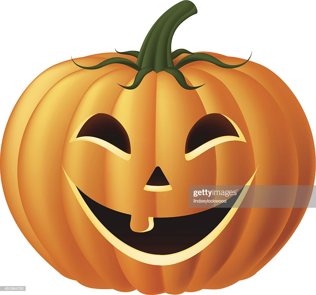 Happy Jack-O-Lantern Pumpkin