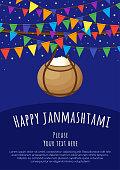 Happy Janmashtam. Vector illustration