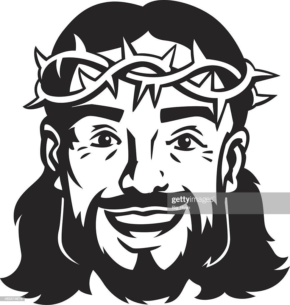 happy jesus : stock illustration