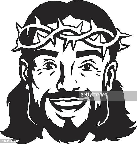 happy jesus - jesus stock illustrations, clip art, cartoons, & icons