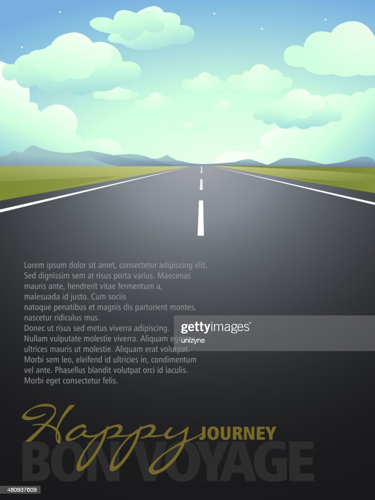 Happy Journey Background with Copy space