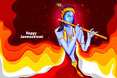 Happy Krishna Janmashtami background