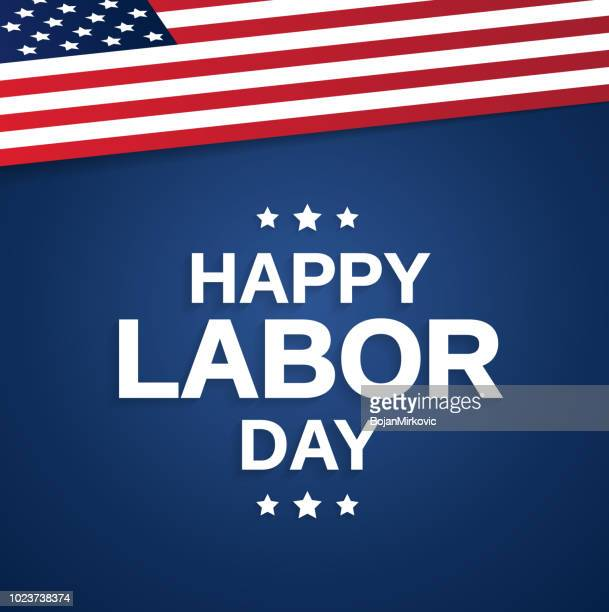 happy labor day background usa flag. vector illustration - labour day stock illustrations