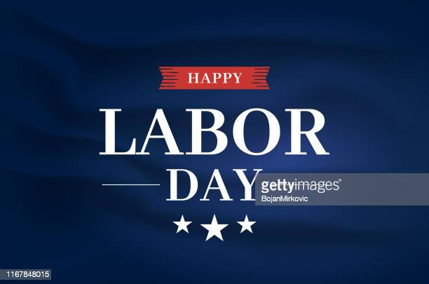 happy labor day elegant poster, satin silk fabric background. vector - labour day stock illustrations