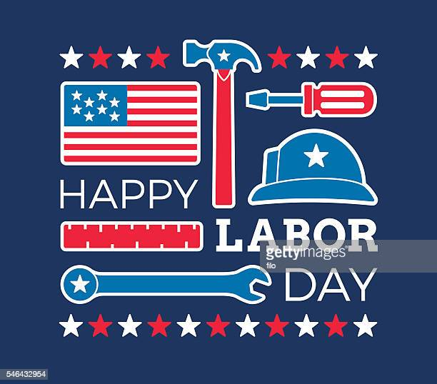 happy labor day - labour day stock illustrations