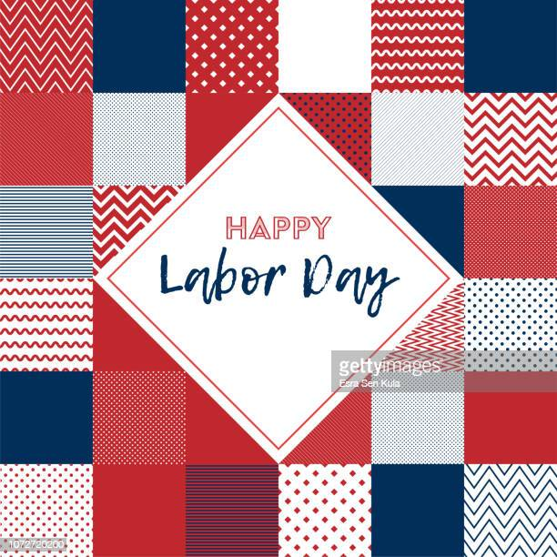 happy labor day web banner - labour day stock illustrations