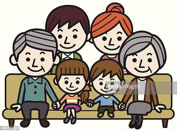 Feliz familia grande