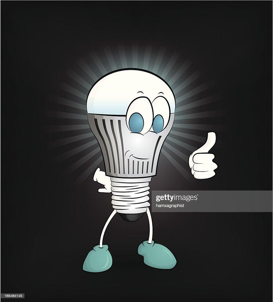 Happy LED light Giving thumb up
