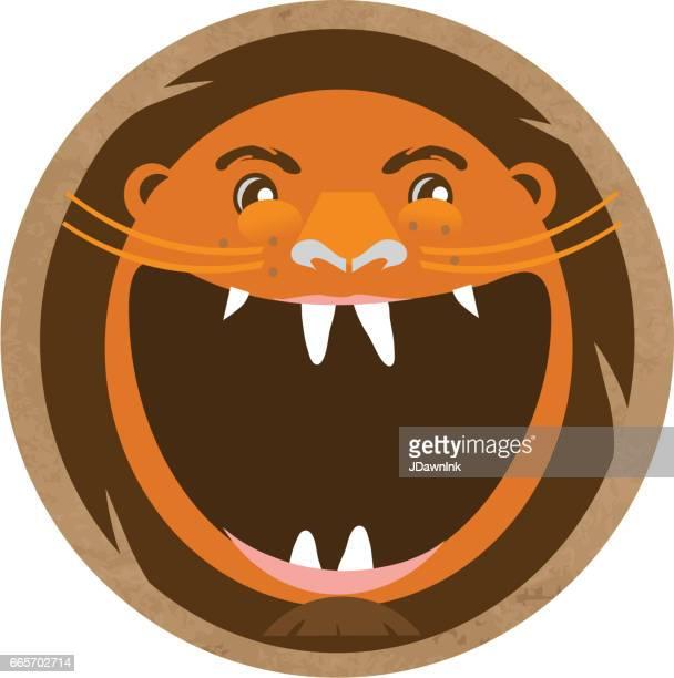 45 ライオン 口を開ける Stock Illustrations Clip Art Cartoons