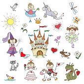 Happy little princesses sketches