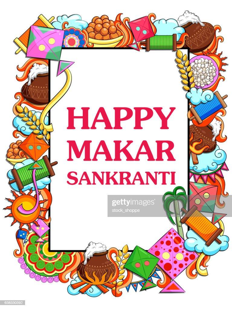 Happy Makar Sankranti festival celebration background