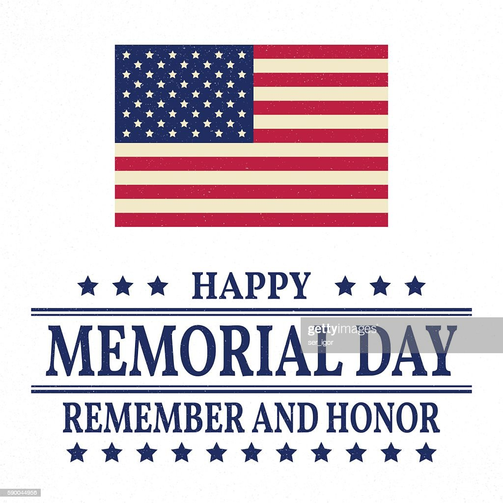 Happy Memorial Day background template.