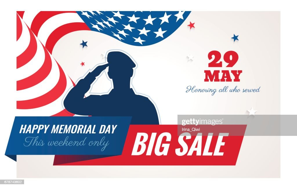 Happy Memorial Day sale banner.