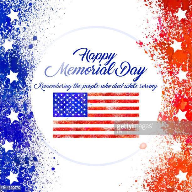 ilustraciones, imágenes clip art, dibujos animados e iconos de stock de feliz día de los caídos  - us military