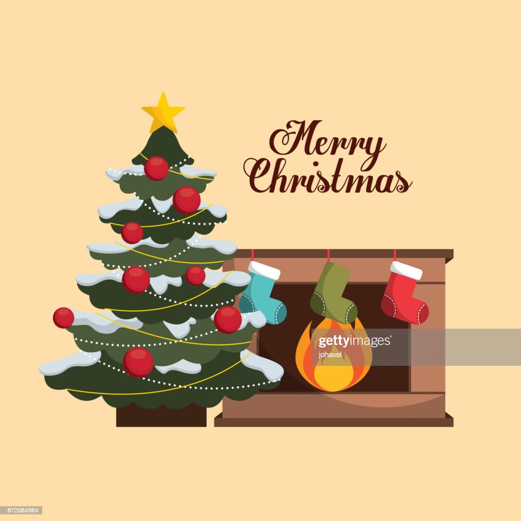 Happy Merry Christmas Card Vector Art Getty Images