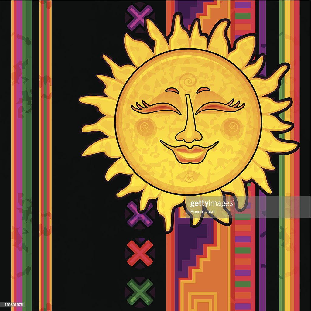 Happy Mexican Sun Vector Art   Getty Images