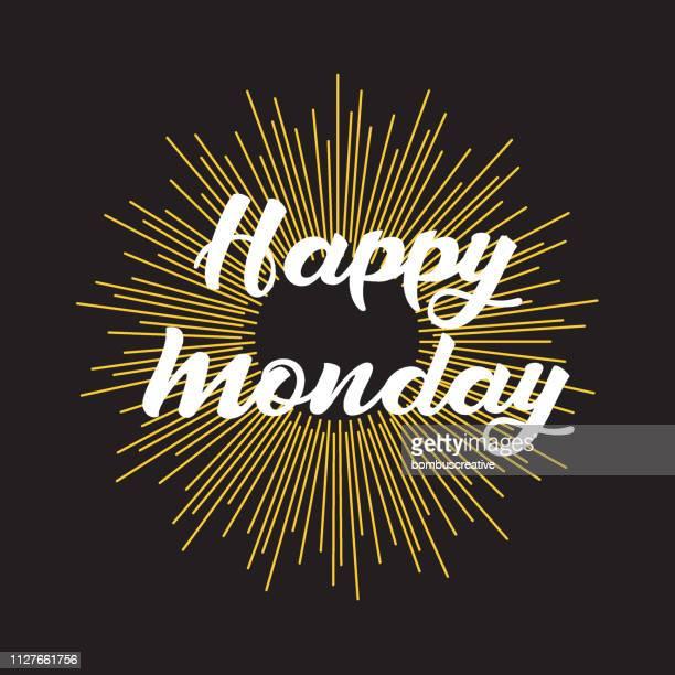 happy monday - monday stock illustrations