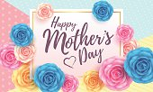 Happy Mother's day Card layout design