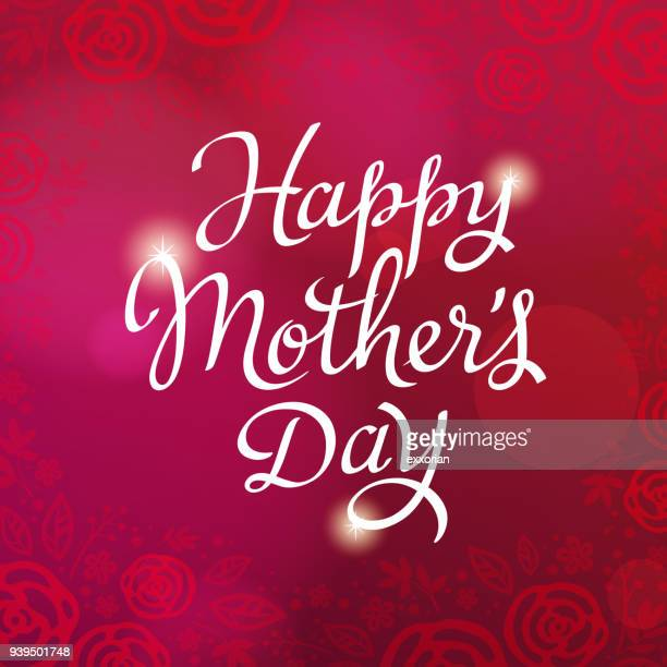 happy mother's day celebration - mothers day stock illustrations
