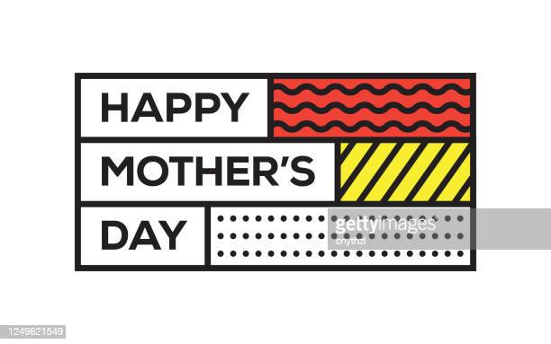 happy mother's day. creative template. vector typography - illustration - mothers day text art stock illustrations
