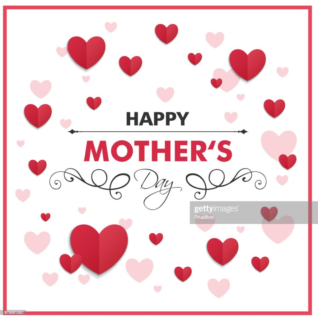 Happy Mothers Day Greeting Card Design Vector Art Getty Images