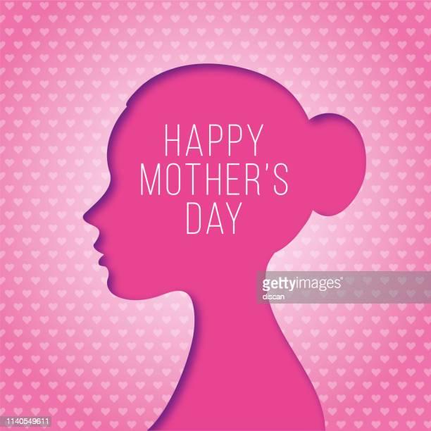 ilustraciones, imágenes clip art, dibujos animados e iconos de stock de feliz día de la madre tarjeta de felicitación. - mothers day