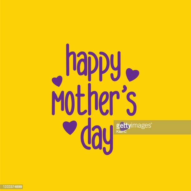 happy mothers day lettering. calligraphy text. stock illustration - mothers day text art stock illustrations